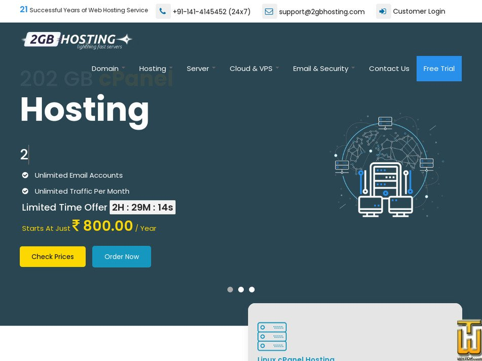 2gbhosting.com Screenshot