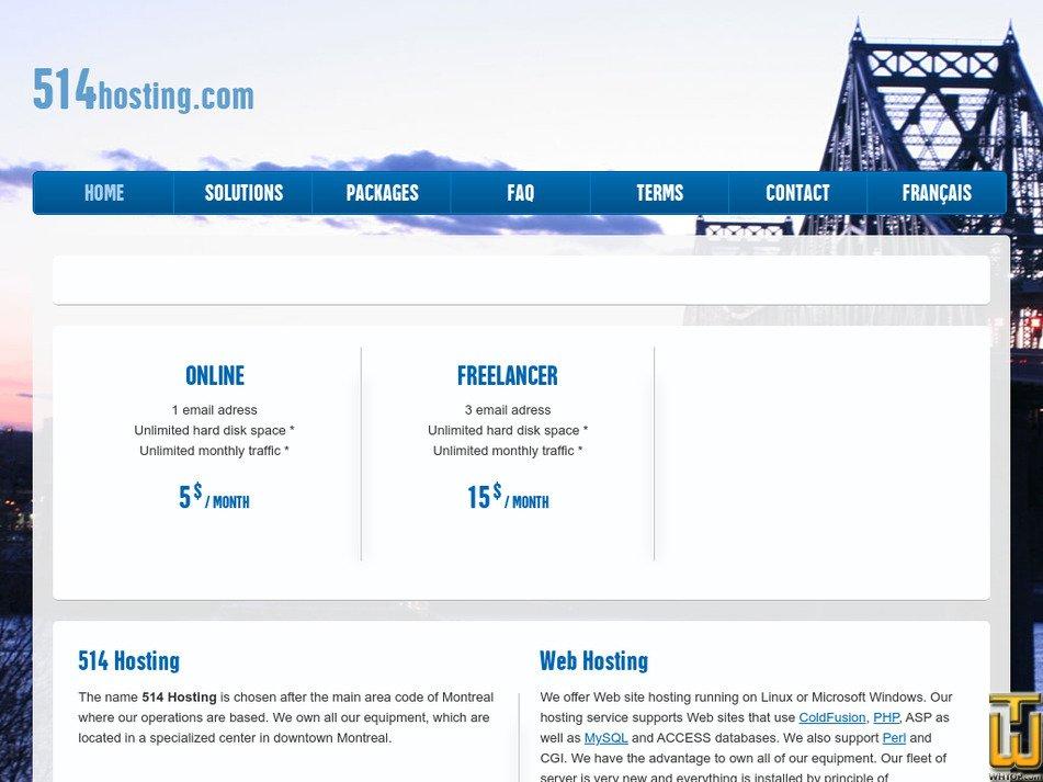 514hosting.com Screenshot