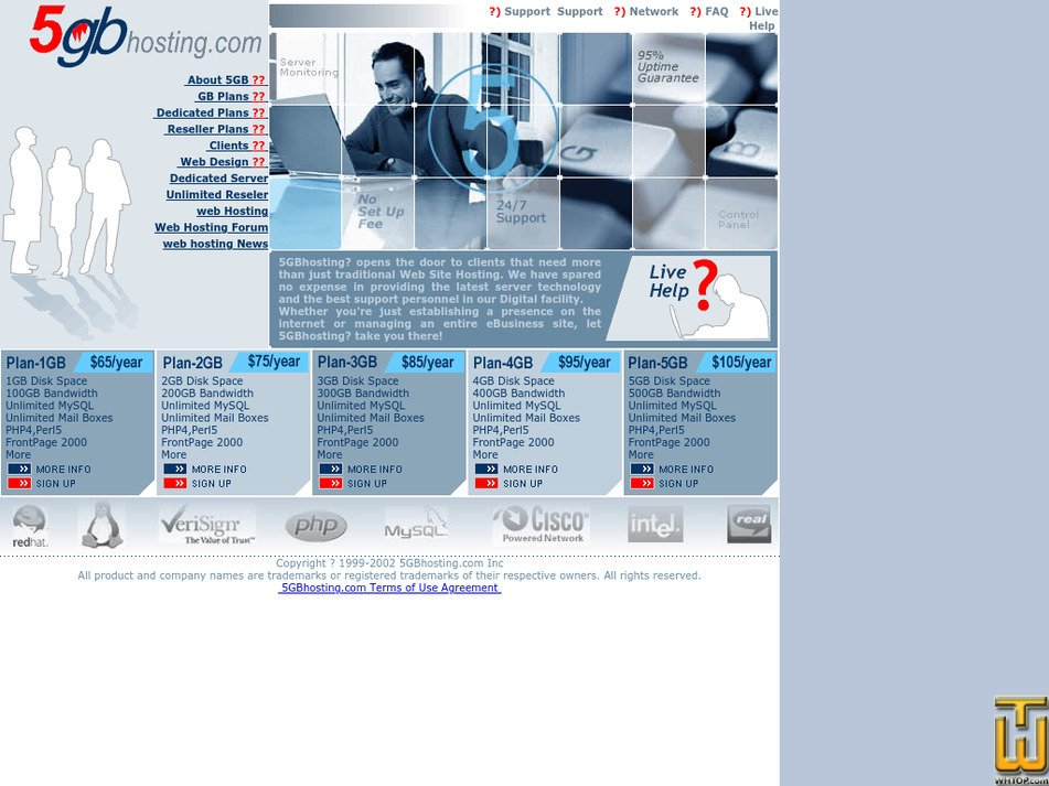5gbhosting.com Screenshot