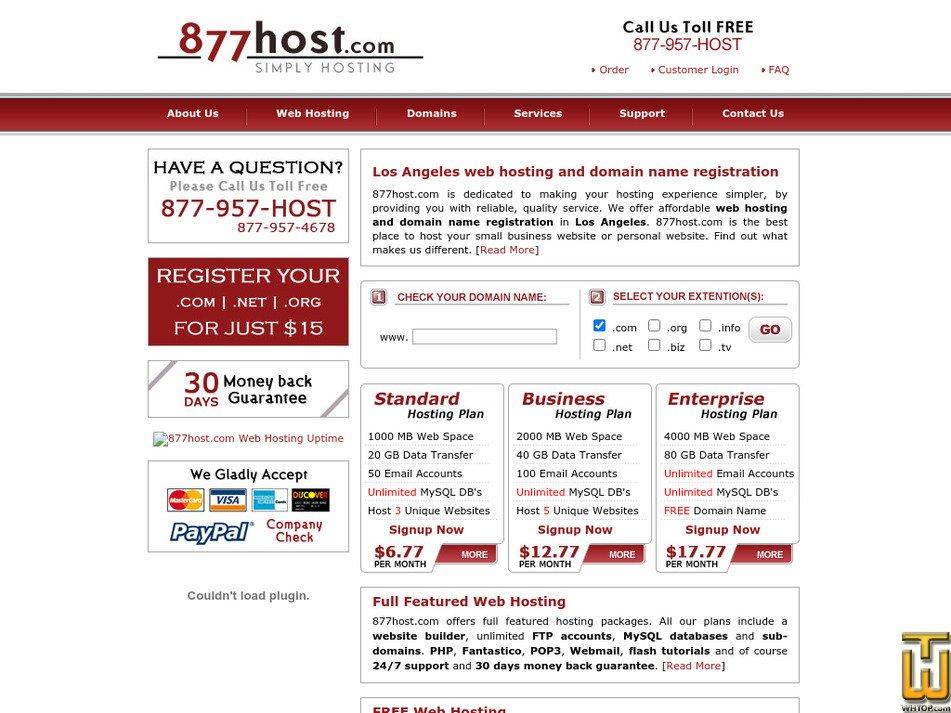 877host.com Screenshot