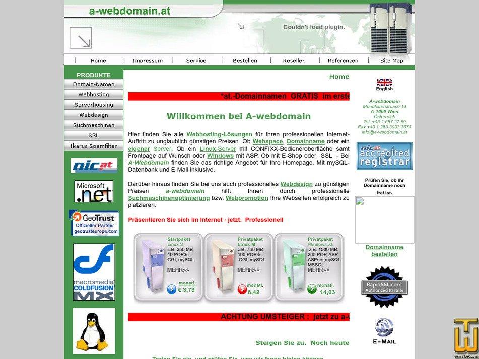 a-webdomain.at Screenshot