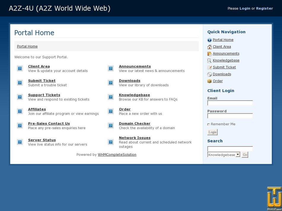 a2z-4u.com Screenshot