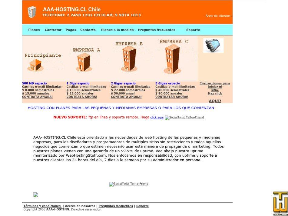 aaa-hosting.cl Screenshot