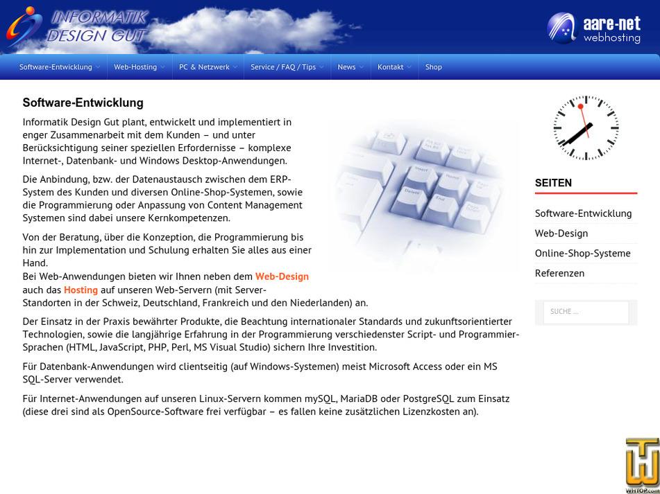 aare-net.ch Screenshot