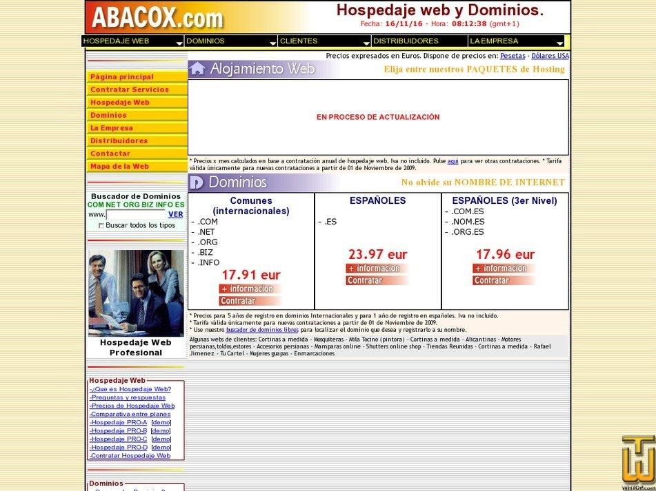abacox.com Screenshot