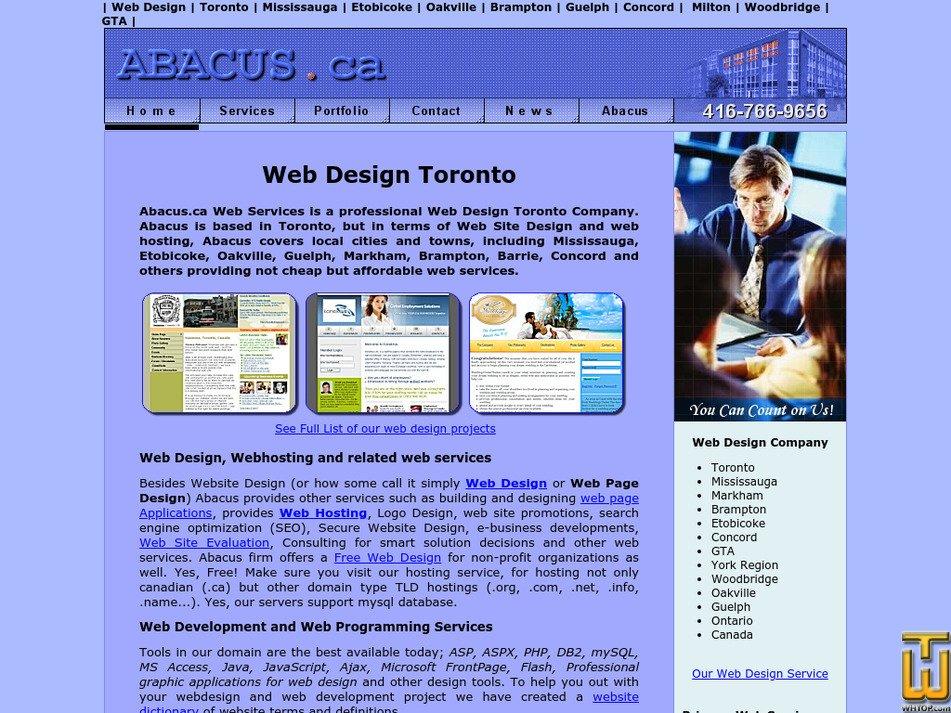 abacus.ca Screenshot