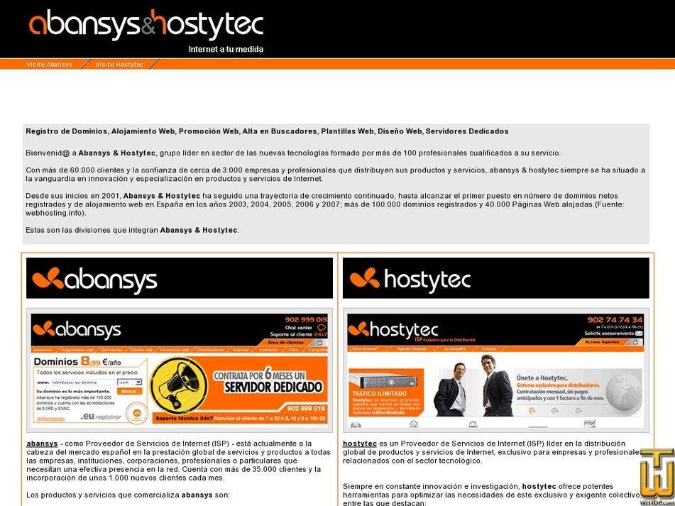 abansysandhostytec.com Screenshot
