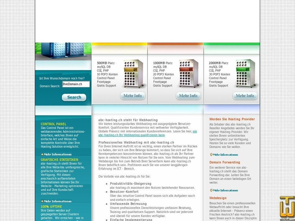 abc-hosting.ch Screenshot