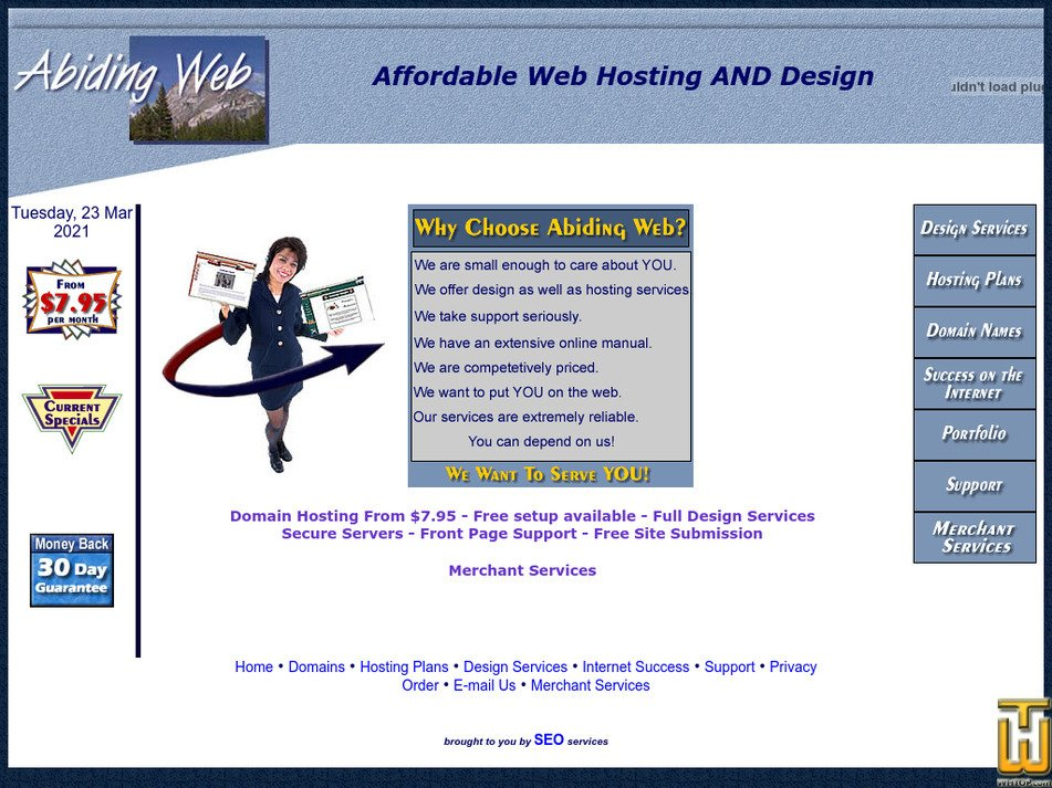 abidingweb.com Screenshot
