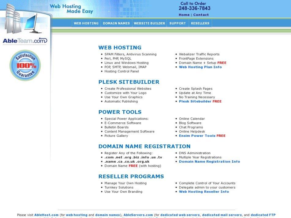 ablehost.com Screenshot