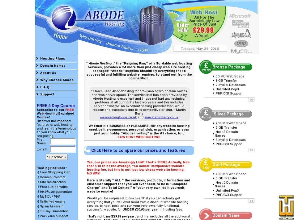 abodehosting.net Screenshot
