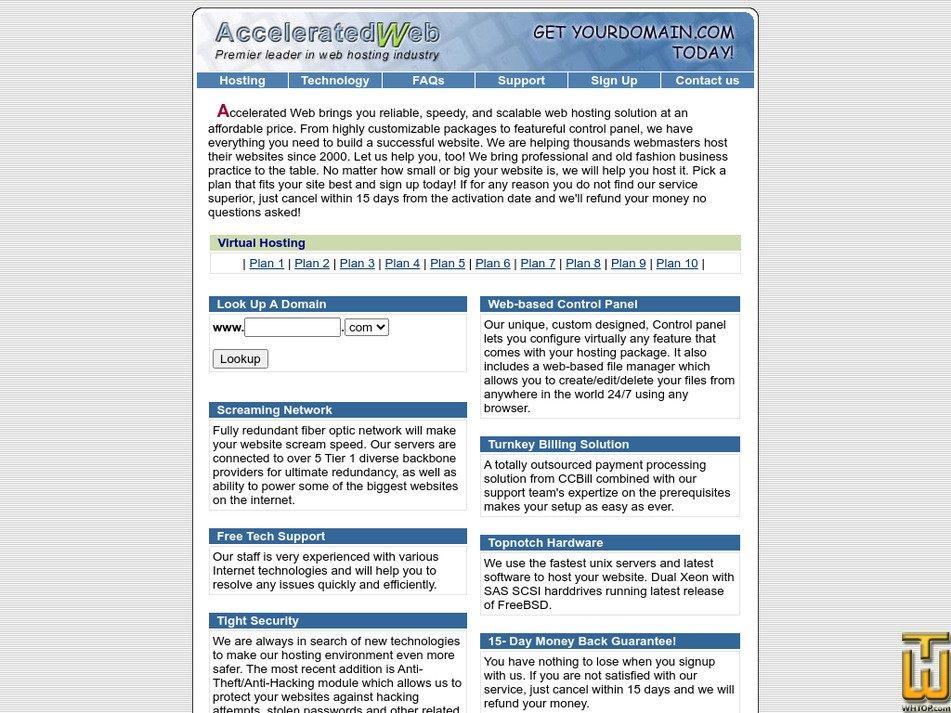 acceleratedweb.com Screenshot