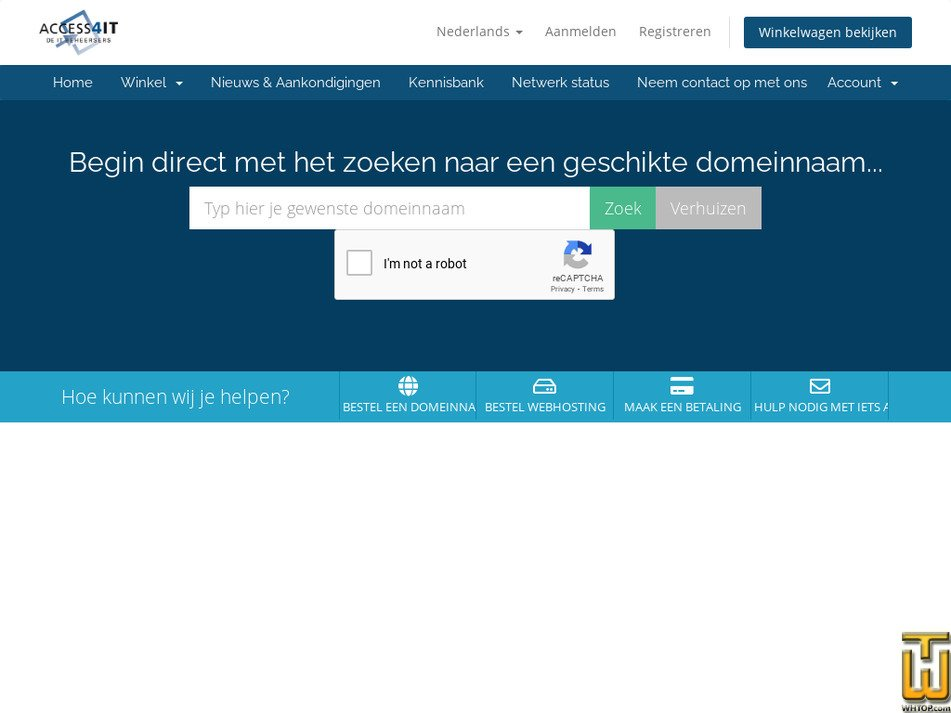 access2hosting.nl Screenshot
