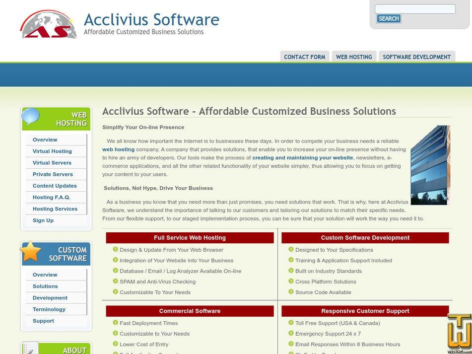 acclivius.com Screenshot