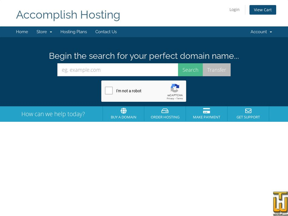 accomplishhosting.com Screenshot