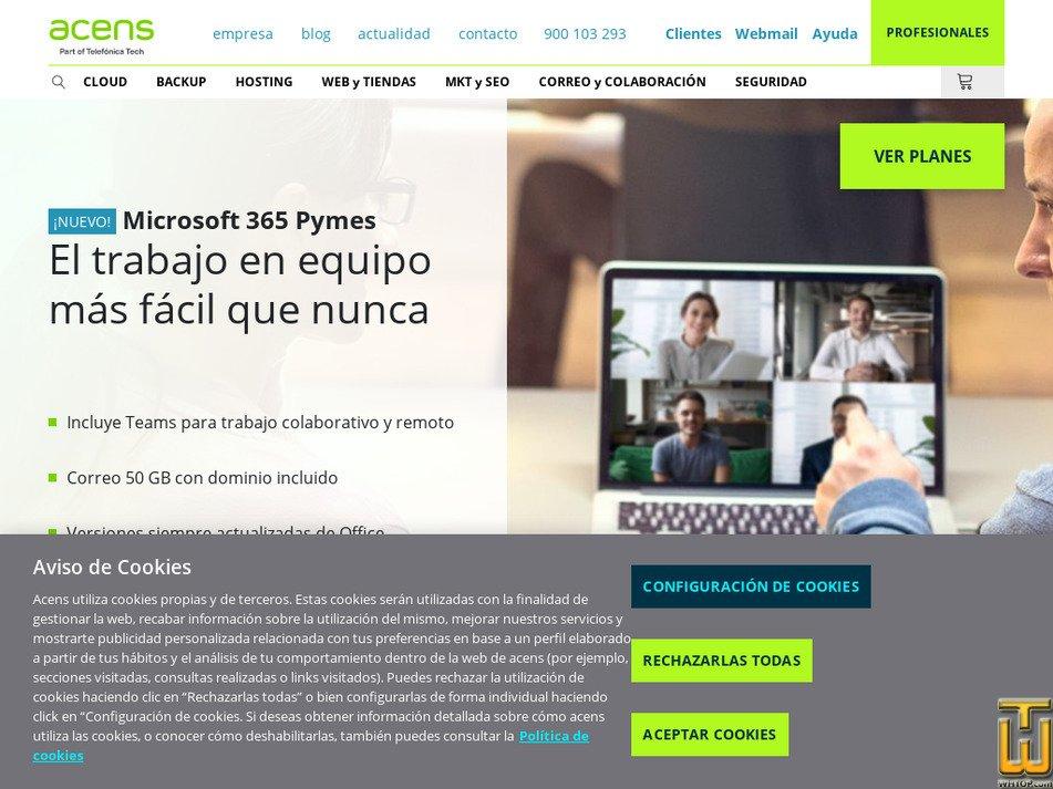 acens.com Screenshot