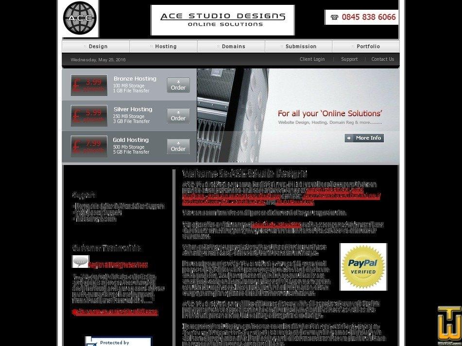 acestudiodesigns.co.uk Screenshot