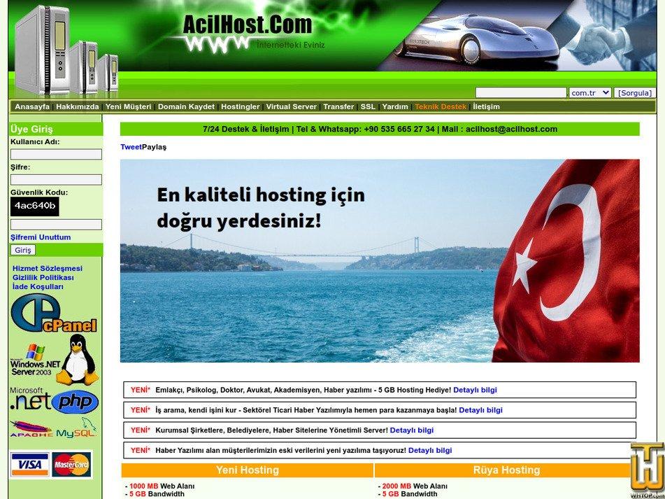 acilhost.com Screenshot