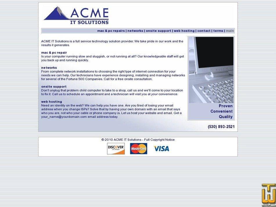 acmeits.com Screenshot