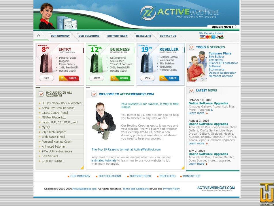 activewebhost.com Screenshot