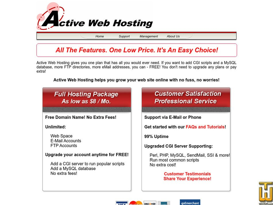 activewebhosting.com Screenshot
