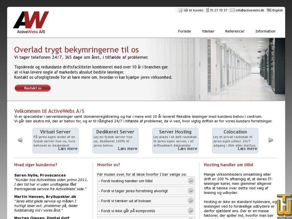 activewebs.dk Screenshot