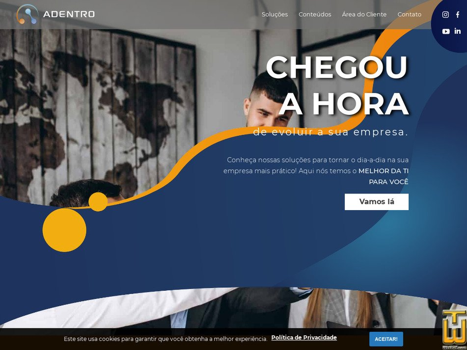 adentrocloud.com.br Screenshot