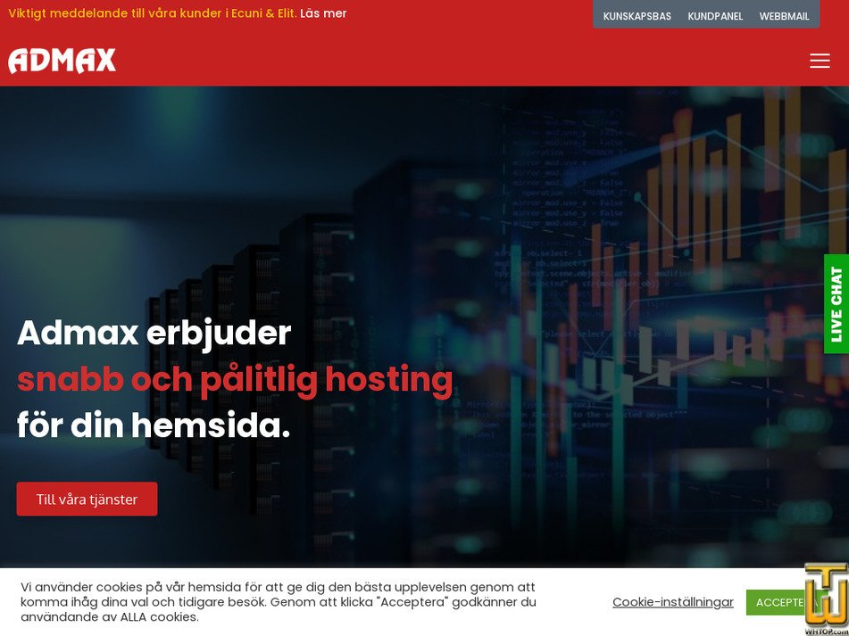 admax.se Screenshot