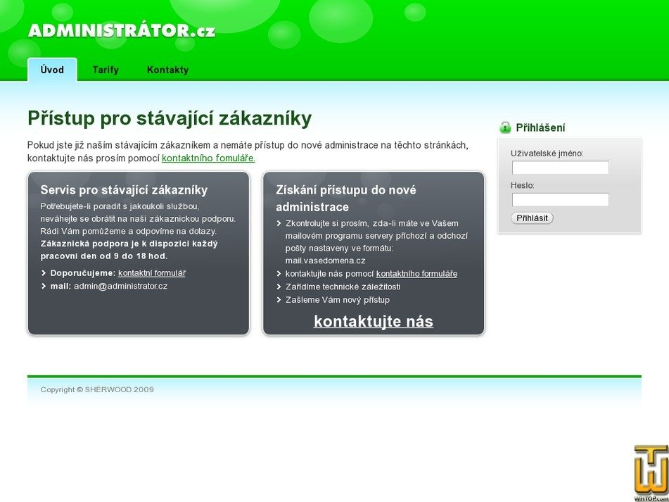 administrator.cz Screenshot