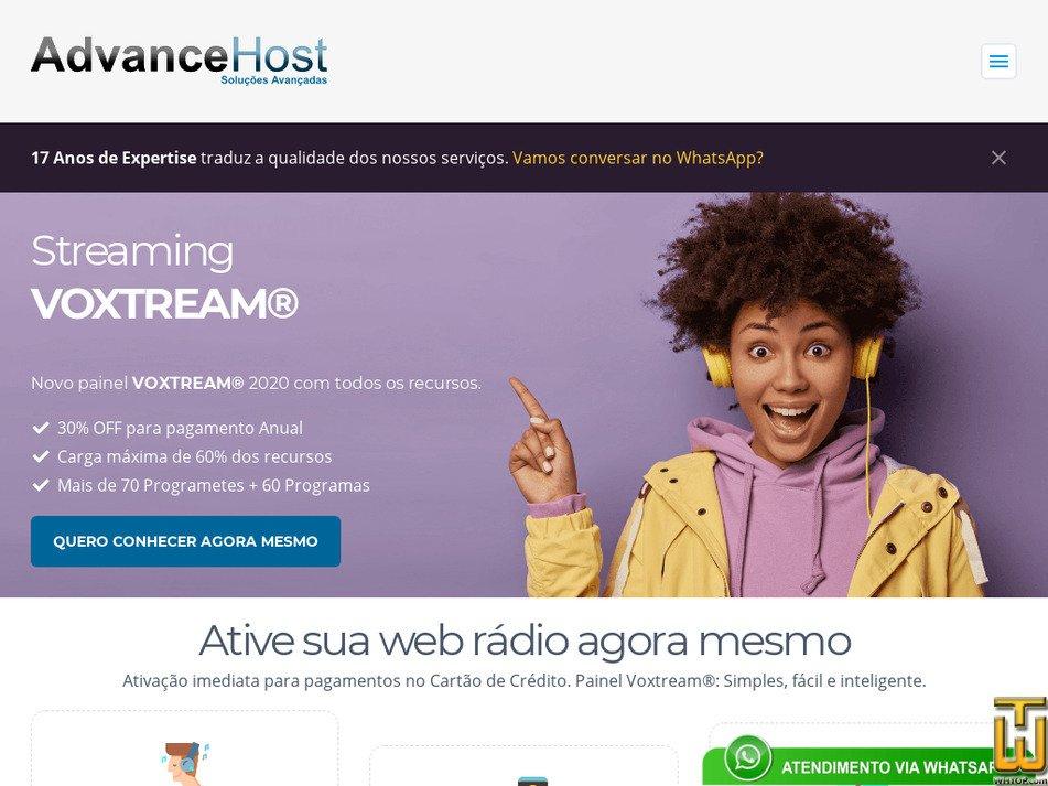 advancehost.com.br Screenshot