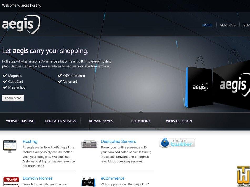 aegishosting.co.uk Screenshot