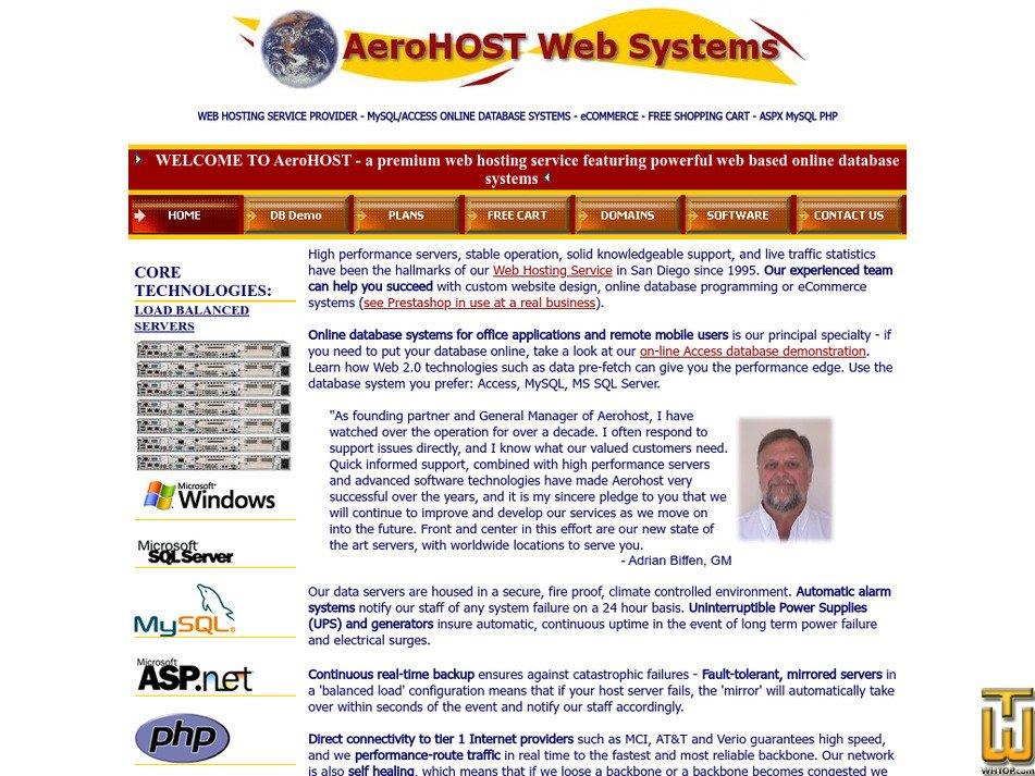aerohost.com Screenshot