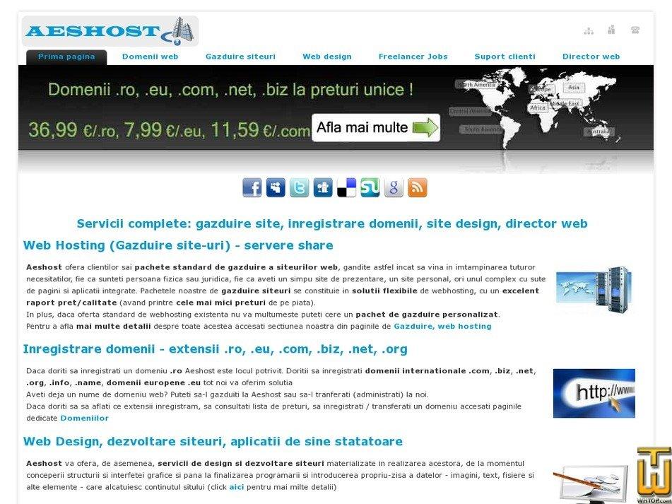 aeshost.ro Screenshot