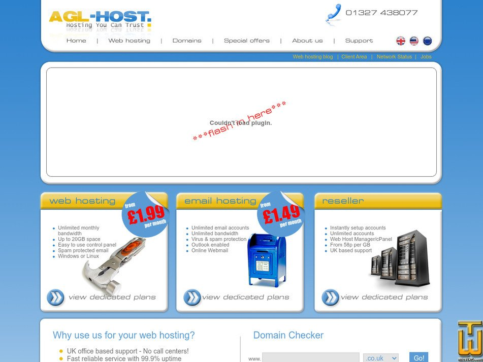 agl-host.co.uk Screenshot
