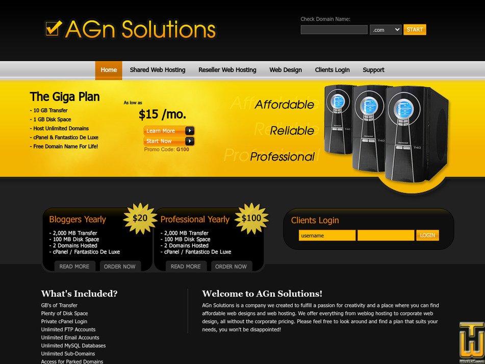 agn-solutions.net Screenshot