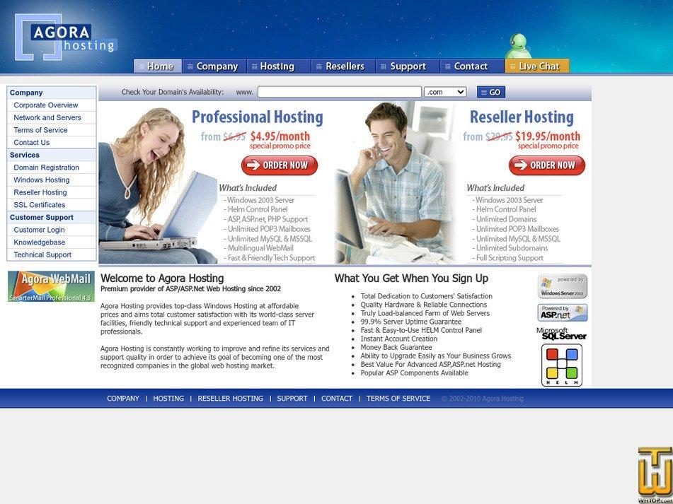 agorahosting.com Screenshot