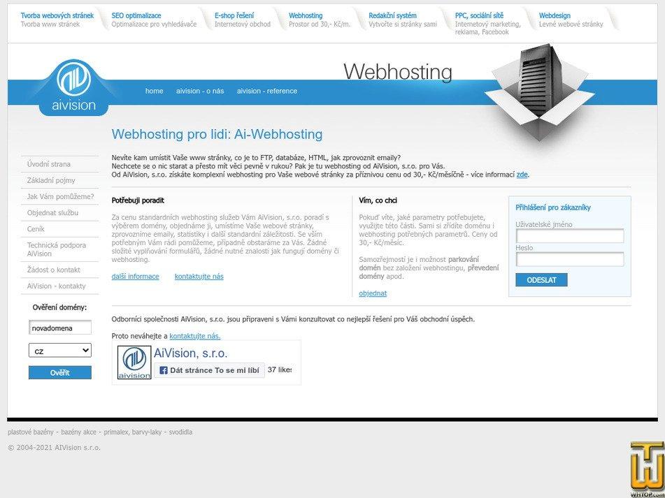 ai-webhosting.cz Screenshot