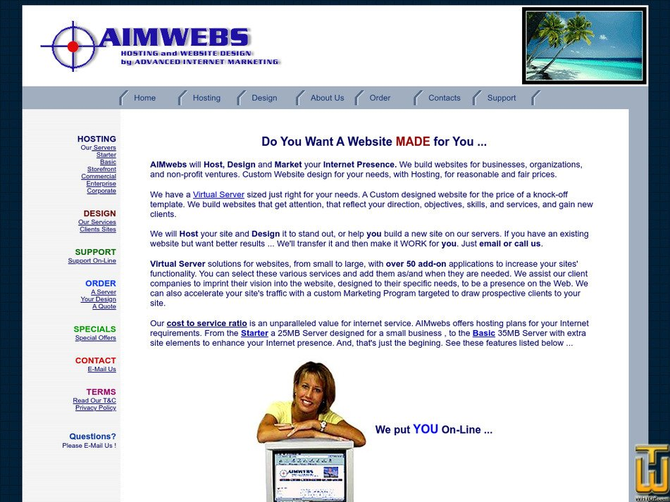 aimwebs.com Screenshot