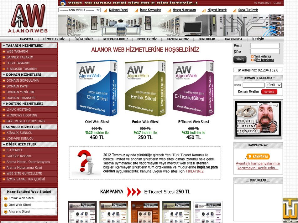 alanorweb.net Screenshot