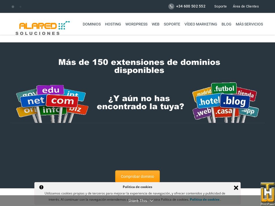 alared.com Screenshot