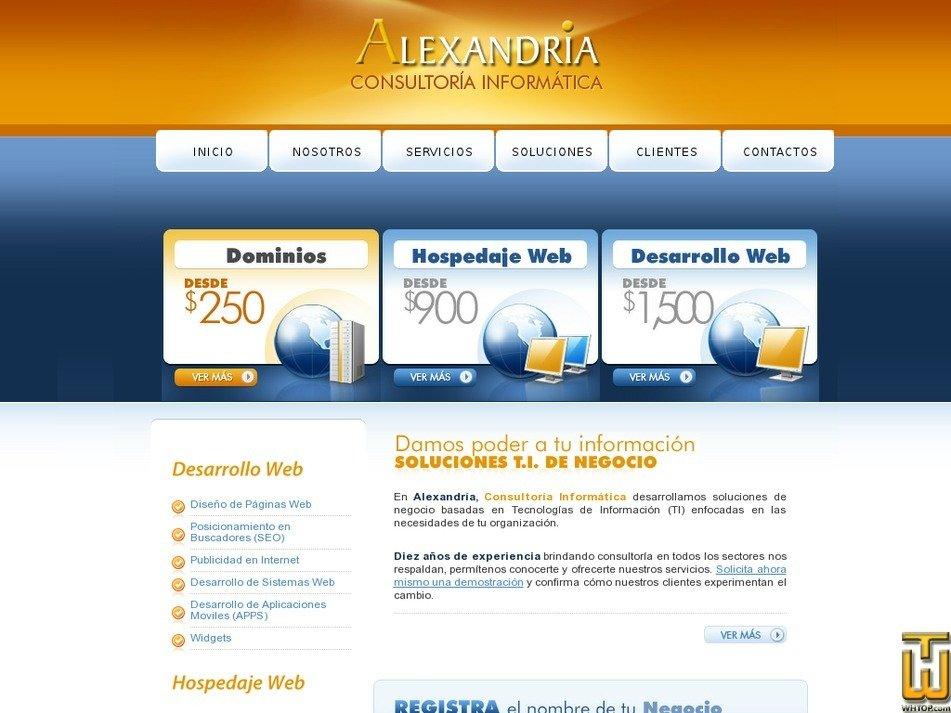 alexandria.com.mx Screenshot