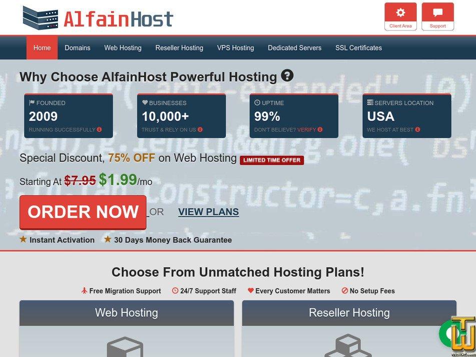 alfainhost.com Screenshot