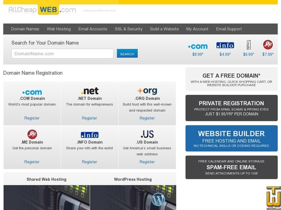 allcheapweb.com Screenshot