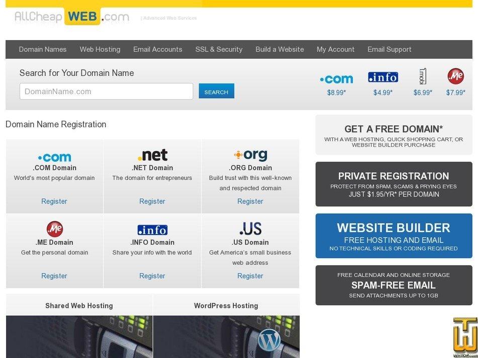 allcheapweb.com Screenshot