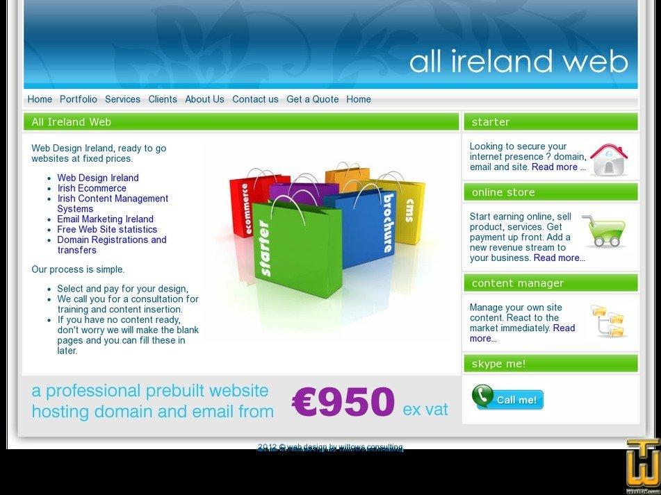 allirelandweb.com Screenshot