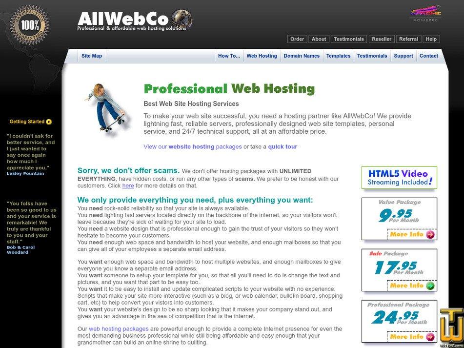 allwebco.com Screenshot