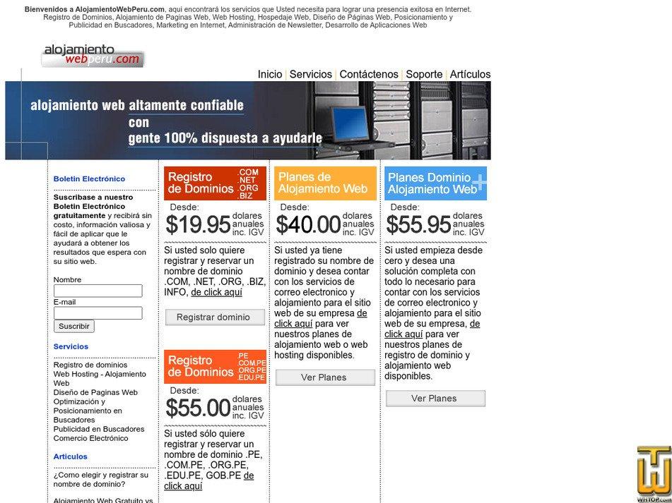 alojamientowebperu.com Screenshot