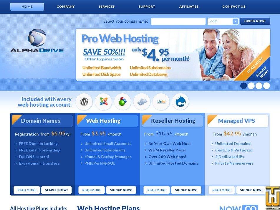 alphadrive.com Screenshot