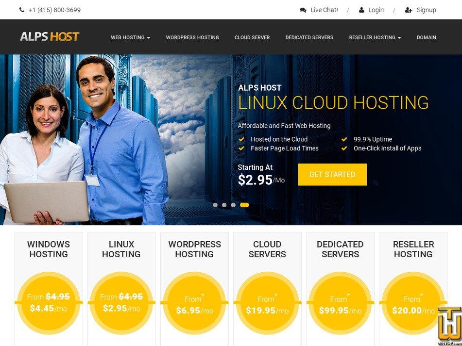 alpshost.com Screenshot