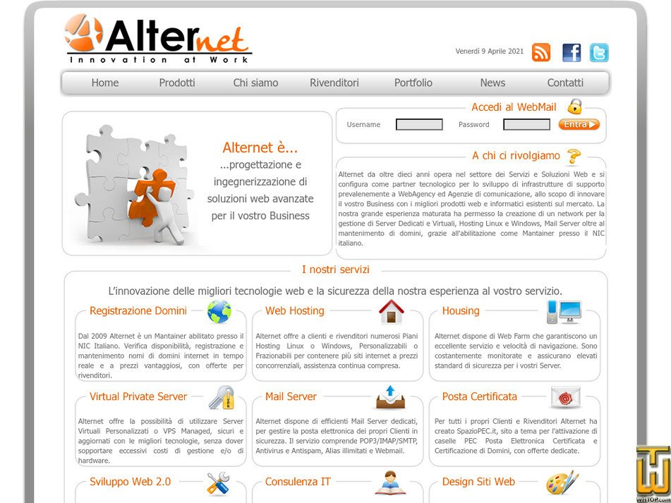 alternet.sm Screenshot